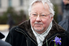 Vytautas Landsbergis. Vilnius, Lithuania - March 11, 2012: Professor Vytautas Landsbergis, a Lithuanian conservative politician and Member of the European Royalty Free Stock Image
