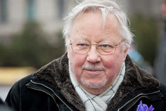Vytautas Landsbergis. Vilnius, Lithuania - March 11: Professor Vytautas Landsbergis, a Lithuanian conservative politician and Member of the European Parliament Royalty Free Stock Photo