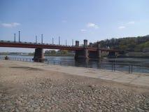Vytautas Magnus most nad rzecznym Neman w Kaunas obrazy royalty free