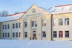 Vytautas Magnus uniwersytet, Muzycznej akademii budynek, Kaunas, Lithuania fotografia royalty free