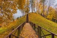 Vytautas mound at Lithuania, Birštonas. Image of Vytautas mound at Lithuania, Birstonas Stock Photo