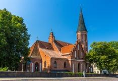 Vytautas Wielki kościół w Kaunas Zdjęcia Stock