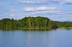 vytegra реки банка Стоковая Фотография