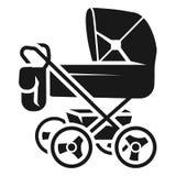 Wózek spacerowy z torby ikoną, prosty styl royalty ilustracja