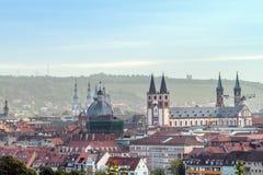 Würzburg City Panorama Stock Images