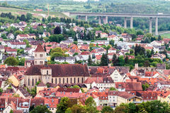 Würzburg City Panorama Royalty Free Stock Photo