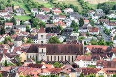 Würzburg City Panorama Stock Photo