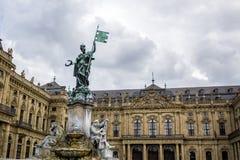 WÃœRZBURG, ГЕРМАНИЯ - 17-ое сентября 2017: Резиденция rzburg ¼ WÃ стоковые изображения rf