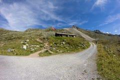 Wägerhus 2 207m на elapass ¼ FlÃ в ¼ Давос Graubà nden Швейцария Стоковые Фото