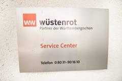 WÃ-¼ stenrot Service-Center Stockbild