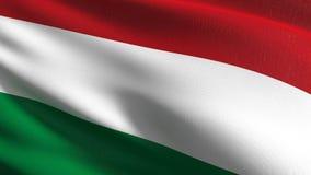 Węgry flagi państowowej dmuchanie w wiatrze odizolowywającym Oficjalny patriotyczny abstrakcjonistyczny projekt 3D renderingu ilu royalty ilustracja