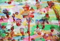 Wächserner lustiger klarer Hintergrund in den klaren rosa bunten Farben Stockfotografie