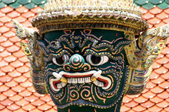 Wächterdämon im großartigen Palast in Bangkok Thailand Stockbilder