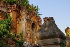 Wächtergeist auf altem stupa Lizenzfreies Stockfoto