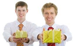 Wählen der Geschenke Lizenzfreie Stockfotografie
