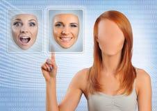 Wählen des Gesichtes Stockfotos