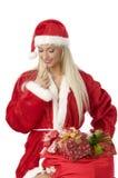 Wählen des Weihnachtskastens Stockbild
