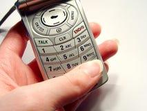 Wählen eines Telefons stockbilder