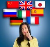 Wählen Sie die Sprache stockfotografie