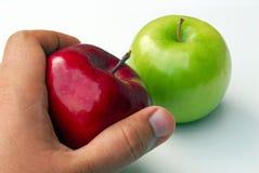 Wählen Sie einen Apple aus Stockbild