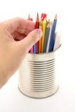 Wählen Sie einen Bleistift aus lizenzfreies stockfoto