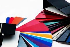 Wählen Sie Farbe für Auto vor Stockfoto