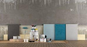 Wahlen Sie Farbmuster Vor Um Wand Zu Malen Stock Abbildung