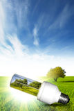 Wählen Sie grüne Energie Stockbilder