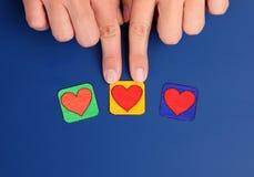 Wählen Sie Herz Lizenzfreie Stockbilder