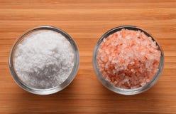 Wählen Sie Ihr Himalaja Salz - oder Draufsicht des Steinsalzes Lizenzfreie Stockbilder