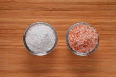 Wählen Sie Ihr Himalaja Salz - oder Steinsalz (Draufsicht) Lizenzfreies Stockfoto