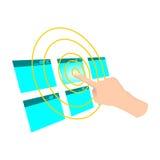 Wählen Sie Ikonen-Vektor-Illustration Lizenzfreie Stockfotografie