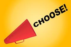 Wählen Sie! - inspirierend Konzept vektor abbildung