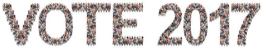 Wählen Sie multi Ethnie der Politik der Wahlwahlen 2017 peop stockfotos