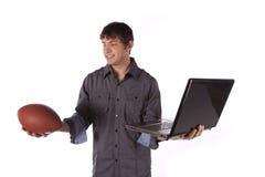 Wählen Sie Sport über Arbeit stockbild