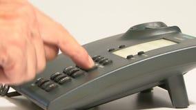 Wählendes Telefon stock footage