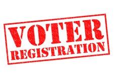 Wählerregistrierung Stockfoto