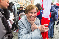 Während des Flaggen-Tages der Republik des Polnischen - ist das nationale Festival, das durch die Tat vom 20. Februar 2004 eingef Lizenzfreie Stockfotos