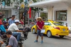 """Während des Schmierfilmbildung """"Taxi ist was Ihr Name? † stockfoto"""