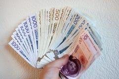 Währung der norwegischen Kronen Stockbild
