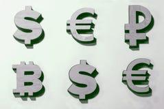Währungen der Welt und lizenzfreie stockfotos