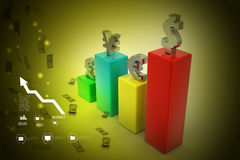 Währungsdiagramm Lizenzfreie Stockbilder