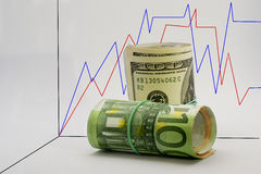 Währungsgraphik Lizenzfreie Stockbilder