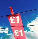 Währungsklammer stockfotos