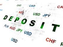 Währungskonzept: Ablagerung auf Digital-Hintergrund Lizenzfreie Stockfotografie