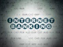 Währungskonzept: Internetbanking auf Digital-Daten-Papierhintergrund Lizenzfreie Stockfotografie