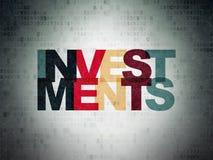 Währungskonzept: Investitionen auf Digital-Daten-Papierhintergrund Lizenzfreie Stockfotografie