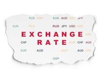 Währungskonzept: Wechselkurs auf heftigem Papierhintergrund Lizenzfreies Stockfoto