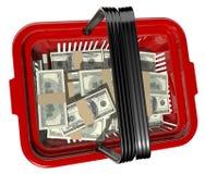 Währungskorb Stockfoto