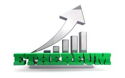 Währungsspekulation Ethereum Blockchain Lizenzfreie Stockfotografie